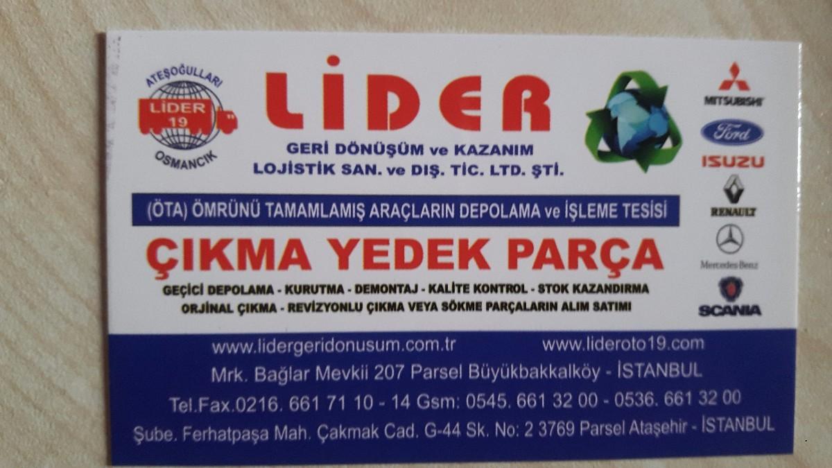 çıkma parça ankara ostim 05456617110 - ticari araçlar - istanbul -